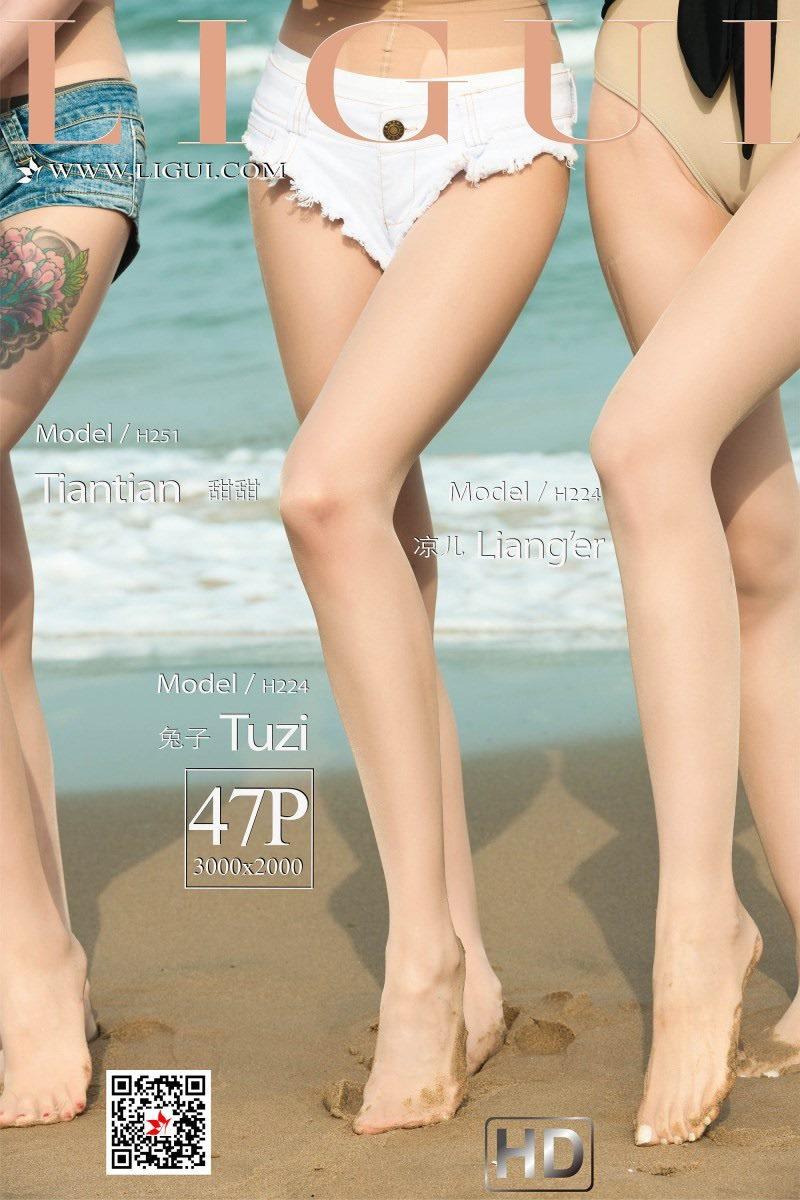 [Ligui丽柜]2019.06.21《双生花》の 沙滩激情[47+1P/36.3M]